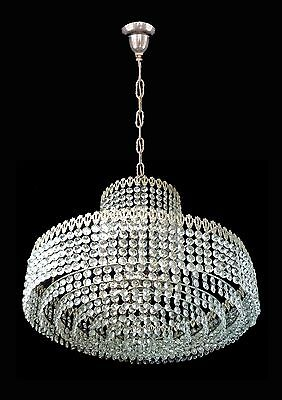 Elegant Large 8 Tier Crystal Beads Wedding Cake Bakalowits Era Chrome Chandelier 8