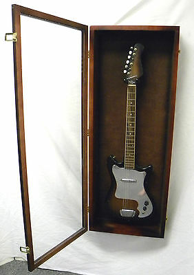 Guitar Display case// Solid hardwood Strat gibson Cherry