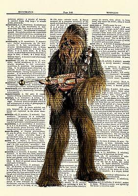 Jar Jar Binks Star Wars Dictionary Art Print Book Picture Poster Gift Clones