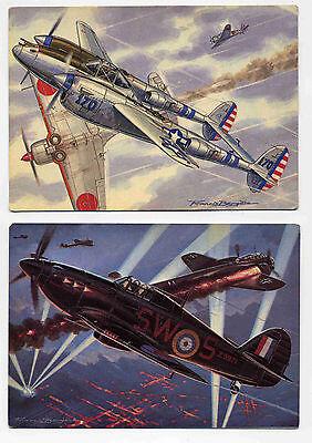 Bergèse lot de 10 cartes Les chasseurs de la Seconde Guerre Mondiale 1990 TBE