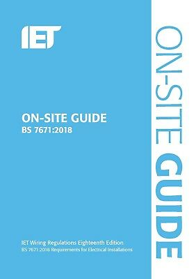 BS 7671 & OSG 2018 18th Edition Blue On site guide & Wiring Regulation FAST DEL 3