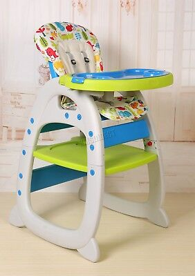 FoxHunter Baby Highchair Infant High Feeding Seat 3in1 Toddler Table Chair New 9