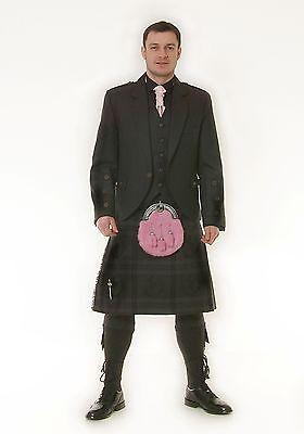 Scottish Grey Argyle Jacket & Vest  Bone Effect Button Ex Hire £99 Lots Of Sizes 3
