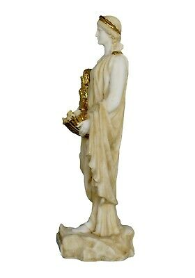 Demeter Alabaster aged statue - Ancient Greek Goddess of Agriculture and Harvest 4
