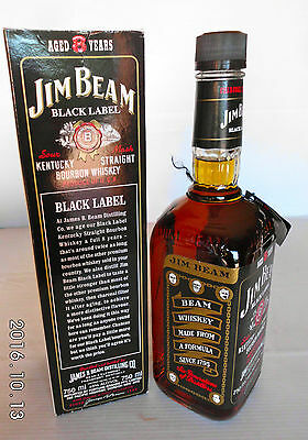 Jim Beam Black Label 8 Year 750ml 90 Proof -Not Rare- IMPOSSIBLE!!!!!! 5