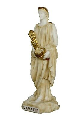 Demeter Alabaster aged statue - Ancient Greek Goddess of Agriculture and Harvest 3