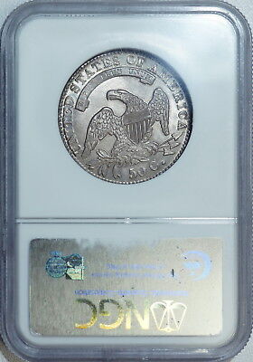 1831 NGC MS65 Bust Half, a nice clean lustrous original piece with strong strike 2