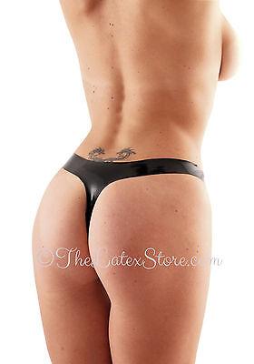 BLACK // Panty Latex THONG Panties // 6 SIZES 143a Made in UK