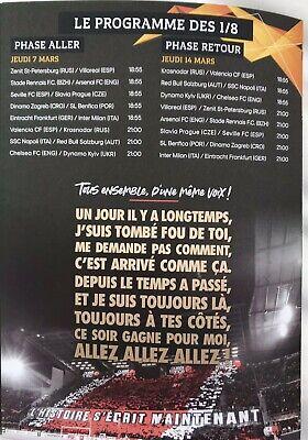 Rennes (Stade Rennais) V Arsenal 7:3/19. Europa League Programme & Sport Journal 4
