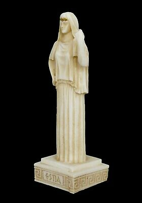 Hestia small Alabaster aged statue - Greek Goddess of The Family and The State 3