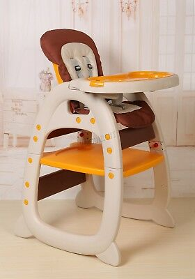 FoxHunter Baby Highchair Infant High Feeding Seat 3in1 Toddler Table Chair New 5