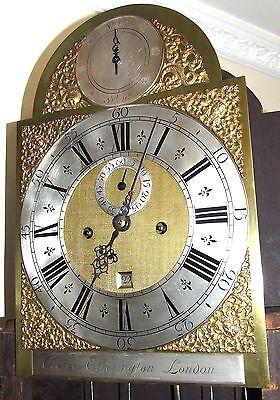 ~ RARE MONTH GOING Antique Walnut  Longcase Grandfather Clock Etherington LONDON 5