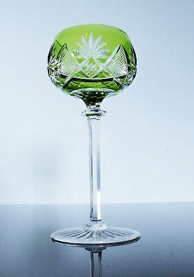 ANCIEN 1 VERRE A Vin Cristal Double Couleur Taille Val St