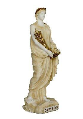 Demeter Alabaster aged statue - Ancient Greek Goddess of Agriculture and Harvest 2