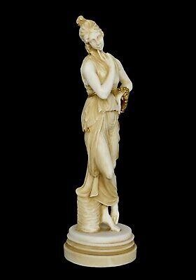 Persephone Queen of the Underworld Alabaster aged statue sculpture Demeter Kore 2