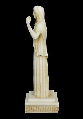 Hestia small Alabaster aged statue - Greek Goddess of The Family and The State 4