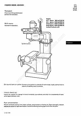 Deckel  Universal Copy Milling Machine KF2 Operators Manual  *635