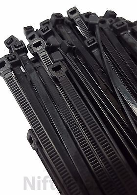 12 Inch Cable Ties - UV Weather Resistant - 75 LBS Nylon Wrap Zip Ties 100 Pack