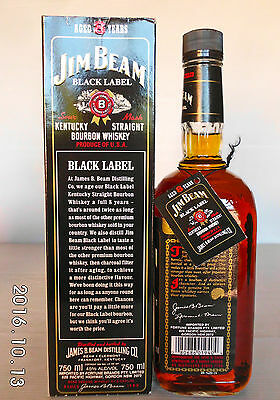 Jim Beam Black Label 8 Year 750ml 90 Proof -Not Rare- IMPOSSIBLE!!!!!! 4