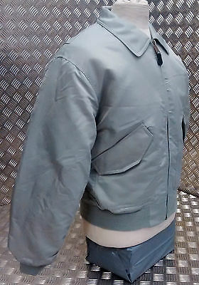 MA2 CWU US Military Style Bomber Jacket MOD//Scooter//Bikers Silver//Grey NEW