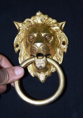 Lion Head Shape Door Knocker Victorian Style Brass Home Door Knocker Door Bell 2
