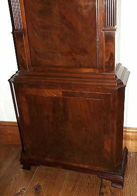 Antique Mahogany Halifax Moon Longcase Grandfather Clock by Thomas DEAN of LEIGH 9
