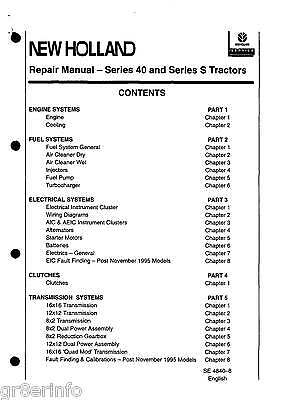 ford new holland 5640 6640 7740 7840 8240 8340 factory service & shop  -2 manuals