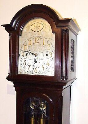 Antique Musical Chiming Mahogany Longcase Grandfather Clock LISTER & SONS 4