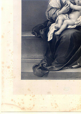 Maria mit dem Christuskinde - Murillo - Große Lithographie-Hanfstaengl 1835-52