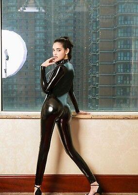 Completo Tuta Mistress Cavallo Aperto Latex Aderente Clubwear Dominatrice Lucido 8