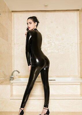 Completo Tuta Mistress Cavallo Aperto Latex Aderente Clubwear Dominatrice Lucido 6