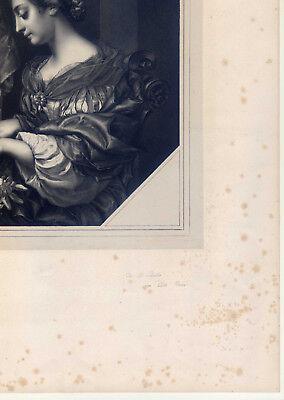 Die heilige Cäcilie-Orgel-Musik-große Lithographie-C. Dolce-Hanfstaengl 1835-52
