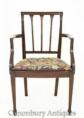 Mahogany Hepplewhite Dining Chairs Set 8 Antique Diners 4