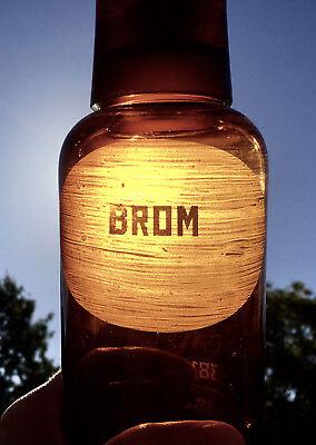 Apotheker -  sehr schöne Glaskappenflasche - BROM  -sehr selten - Gruseldeko 6