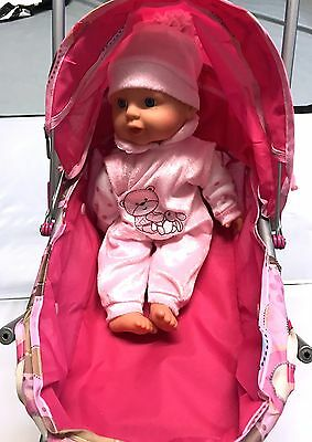 Pink Stroller With Pink Doll Toy 6