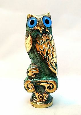 Ancient Greek Bronze Museum Replica Of Owl Symbol Of Athena Goddess Of Wisdom 2