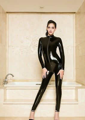 Completo Tuta Mistress Cavallo Aperto Latex Aderente Clubwear Dominatrice Lucido 2