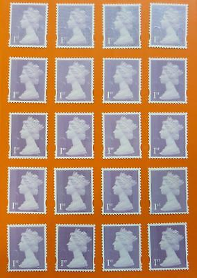 100 Genuine 1st Class Stamps Unfranked Off Paper WITH ORIGINAL GUM Self-Adhesive 4