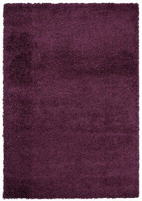 MODERN 5cm HIGH PILE PLAIN SOFT NON-SHED SHAGGY RUGS-SMALL X EXTRA LARGE THICK 3
