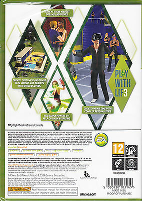 The Sims 3  Xbox 360 Brand New Factory Sealed 2