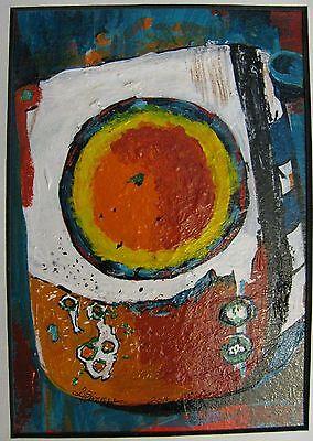 "C311    Original Acrylic  Painting By Ljh  ""Rose Bowl"" 2"
