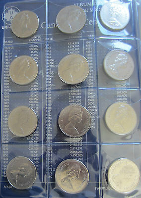 Complete Set of Canada Half Dollars Coins (1968-2013) In UNI-Safe Blue Book 4