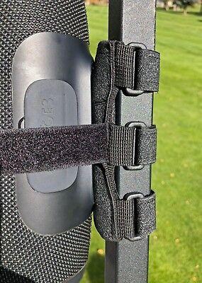 Bushwhacker Speaker Mount for Golf Cart Railing Blue Tooth Holder Wireless Bar 3