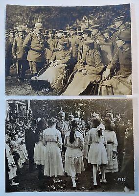 RARE Orig Photo LOT WWI German Soldier Hindenburg 1916 Ludendorff Kaiser Wilhelm 3