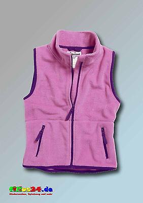 Playshoes Kinder Fleece Weste farbig abgesetzt in vier Farben Gr 74 bis 140 5
