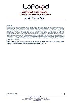 Acido Ascorbico Puro - Vitamina C - 1Kg - E300 - Alimentare -NO OGM- GLUTEN FREE 9