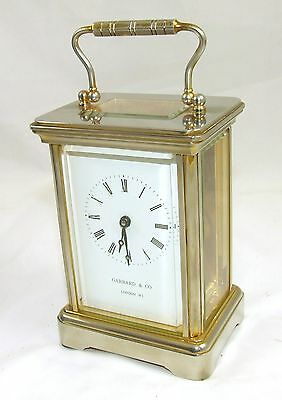 ENGLISH GARRARD & CO LONDON W1 Brass Carriage Clock with Original Box : Working 2