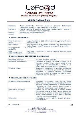 Acido Ascorbico Puro - Vitamina C - 1Kg - E300 - Alimentare -NO OGM- GLUTEN FREE 6