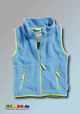 Playshoes Kinder Fleece Weste farbig abgesetzt in vier Farben Gr 74 bis 140 2