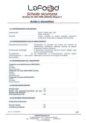 Acido Ascorbico Puro - Vitamina C - 1Kg - E300 - Alimentare -NO OGM- GLUTEN FREE 8